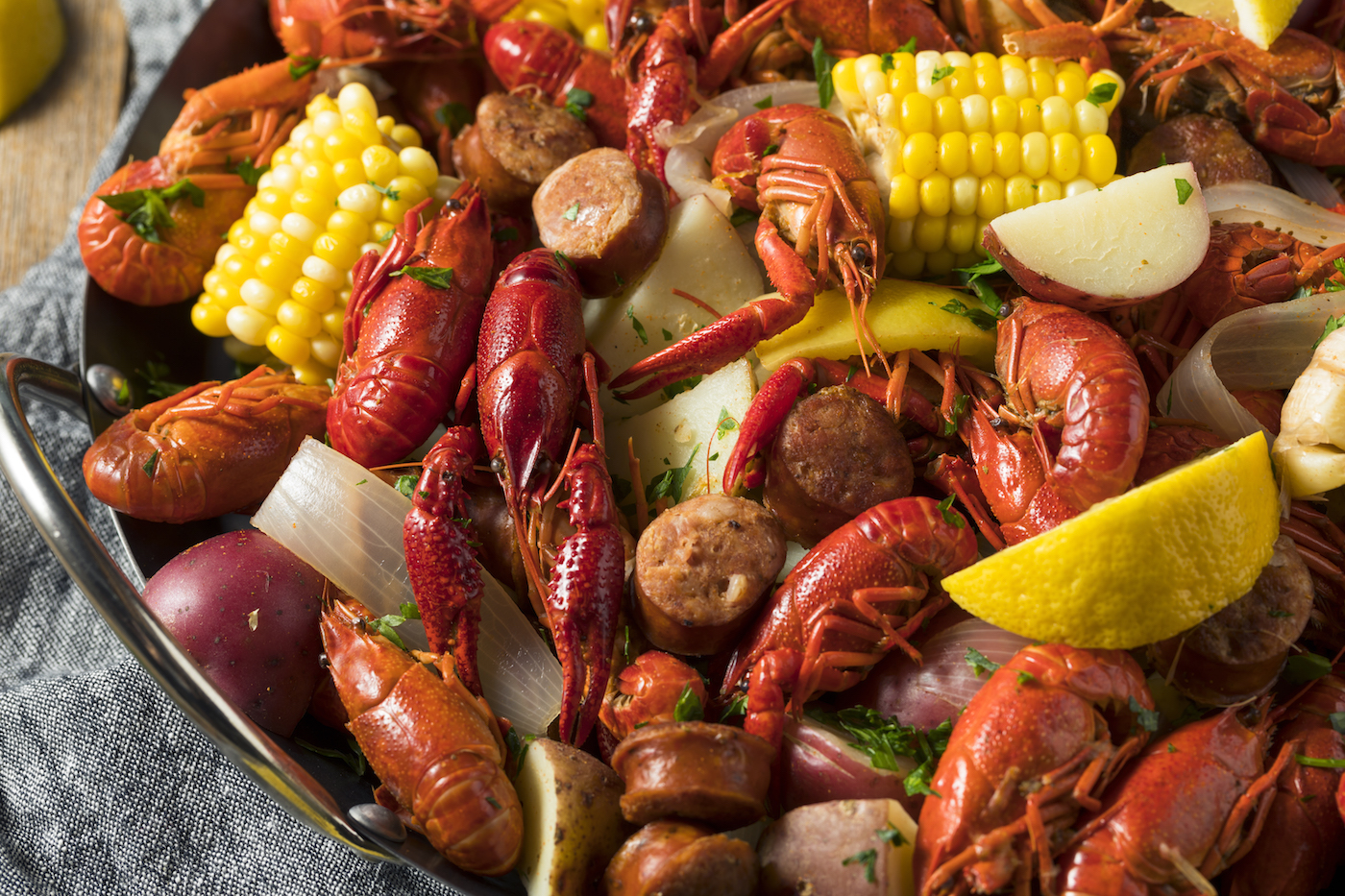 Crayfish Feast at Wright Brothers