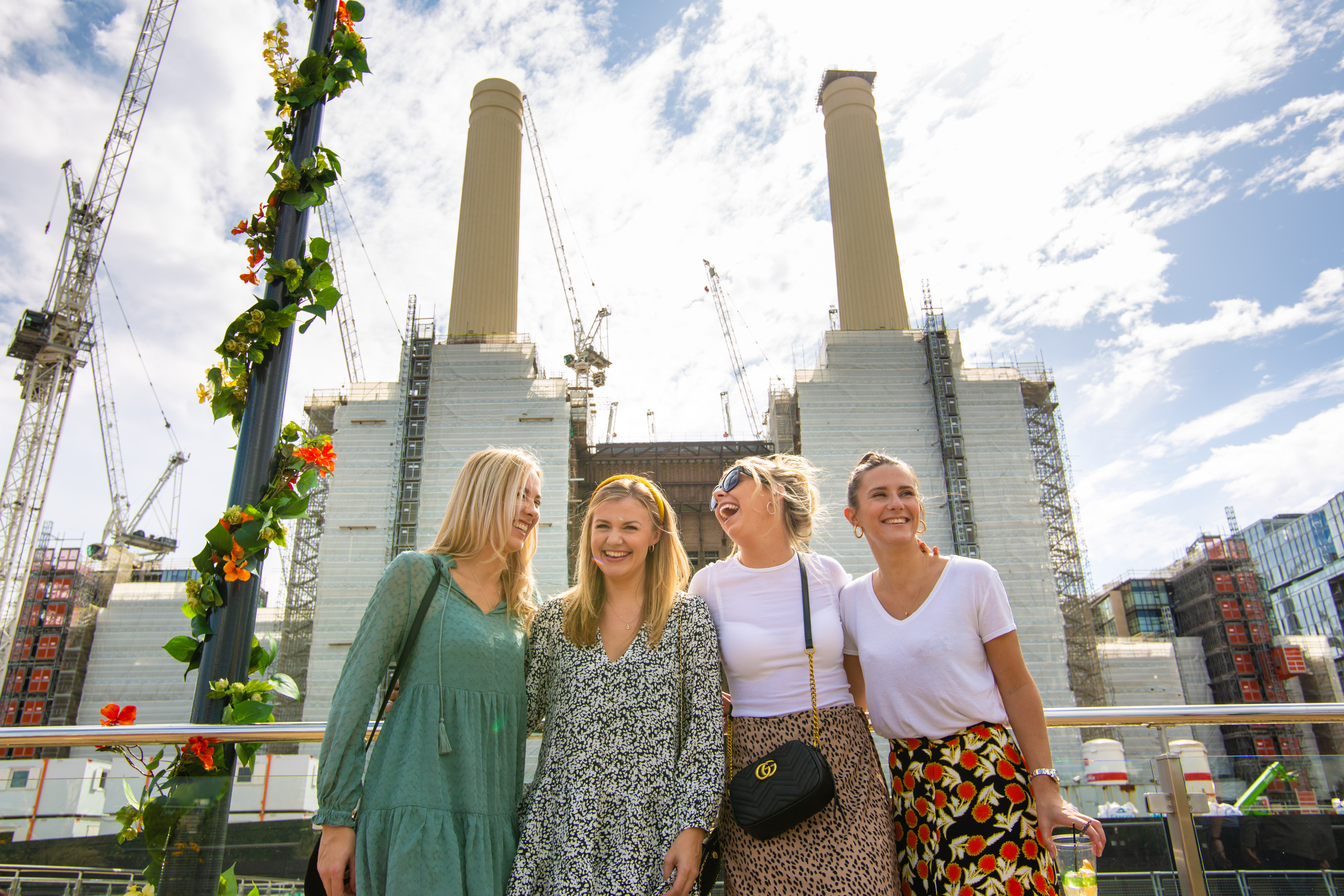 Bank Holiday Monday at Battersea Power Station