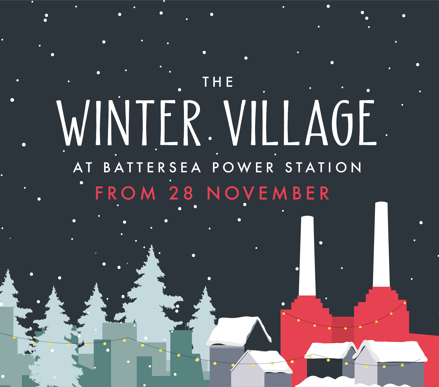 The Winter Village at Battersea Power Station