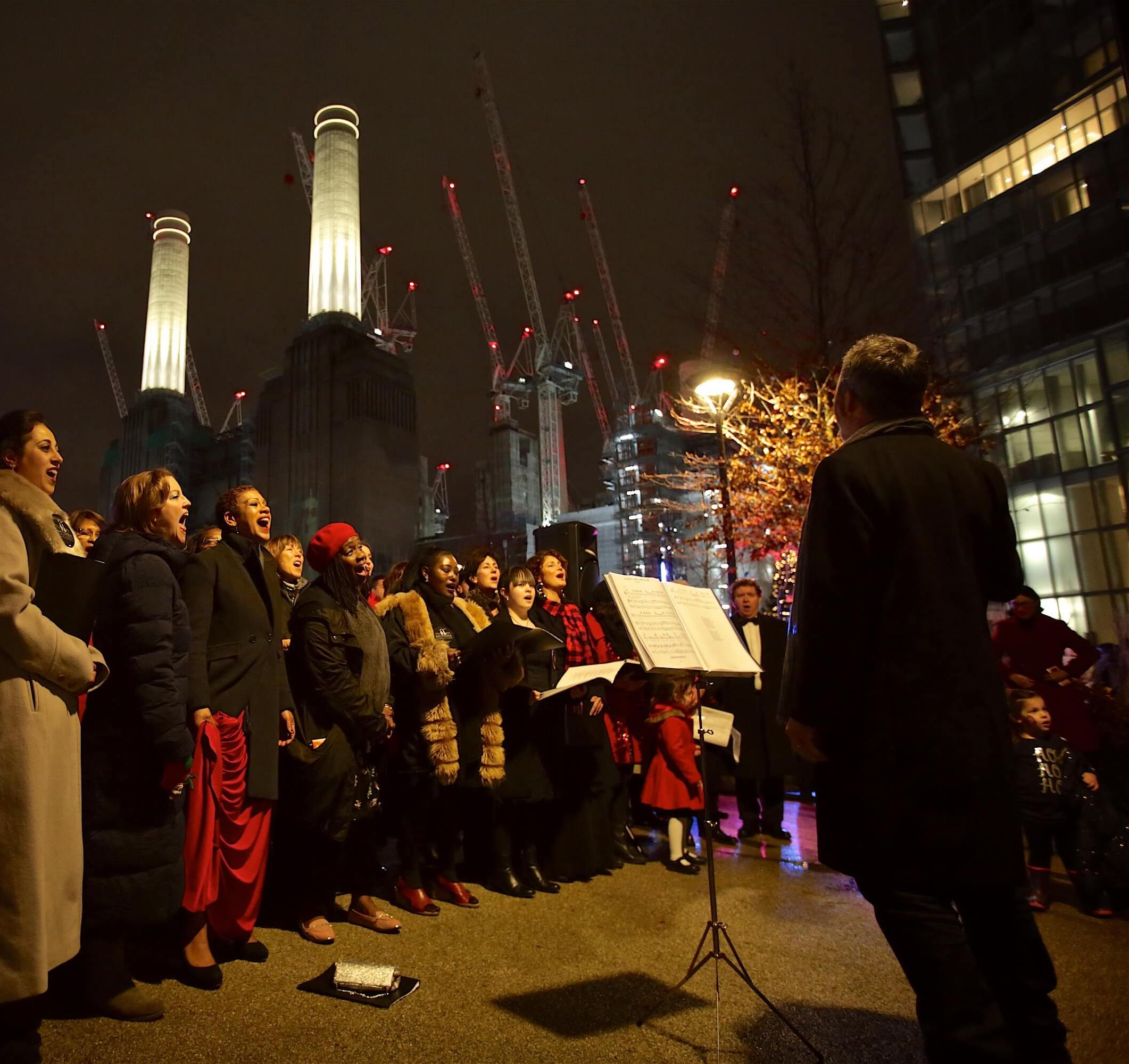 The Winter Village Launch at Battersea Power Station